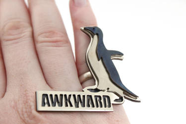 Socially Awkward Penguin Meme Ring