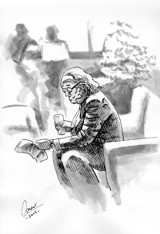 The Reading Man by Osmont2