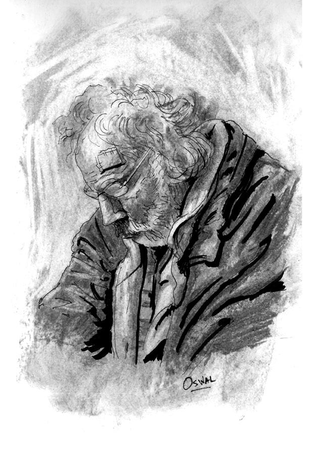 Old man sketch by Osmont2
