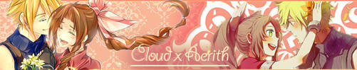 Cloud x Aerith Banner - May 2017 by MinasPassion
