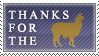 DA Thanks for the Llama Stamp by 2ravens72