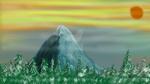 Mountain at Sunset - Digital Painting