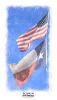 US-Texas Flags