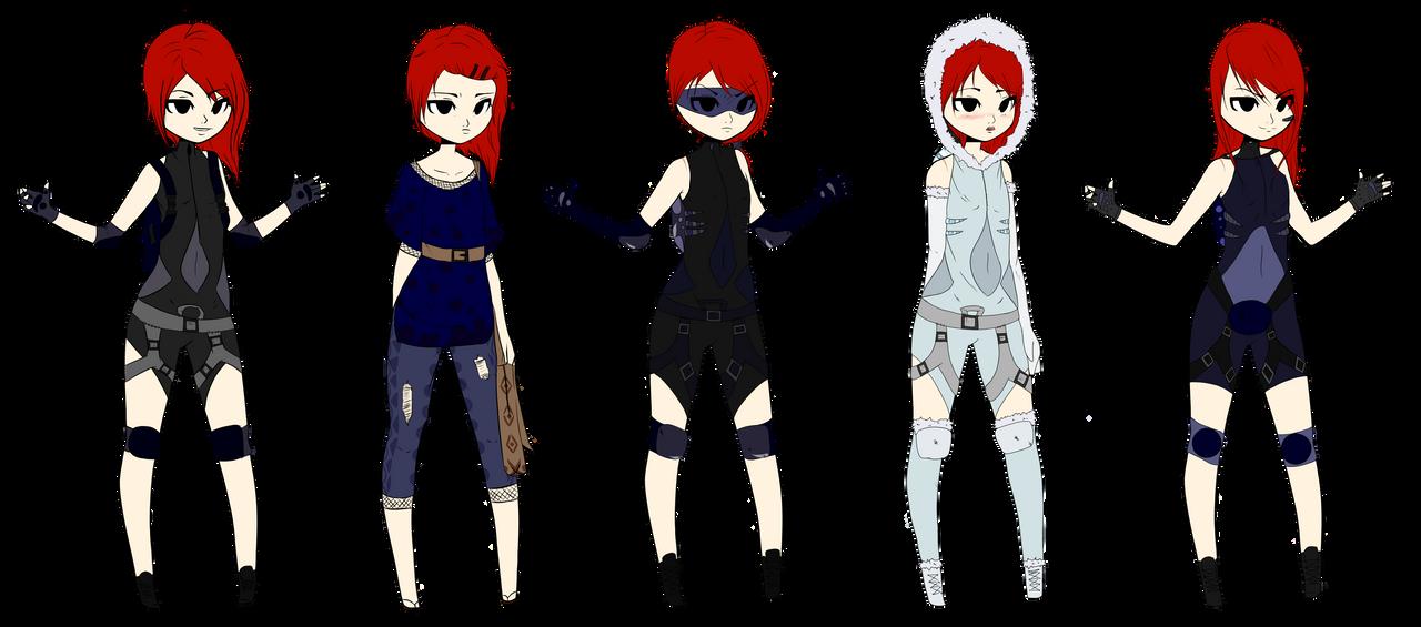 Aquarius Outfit Variations by AquAlannis
