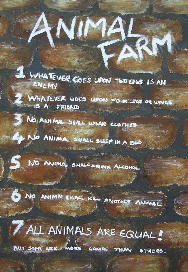 7 commandments change animal farm A discussion of the animal farm themes running animalism to seven basic commandments these include that animals are in the barn change to reflect a.