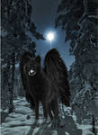 Realistic Ebony - with wings