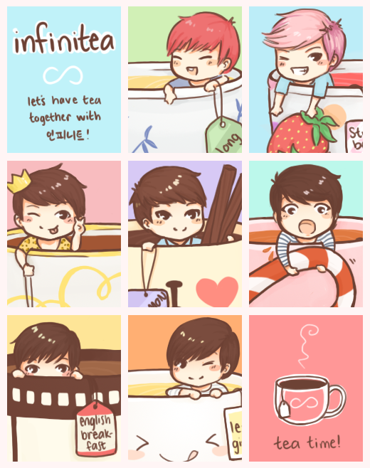 infinitea: let's have tea together with infinite! by Yutong