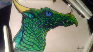 Traditional:  Emerald Dragon