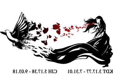 Rose Dove Tattoo design
