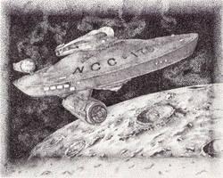 Starship Enterprise by magnifulouschicken