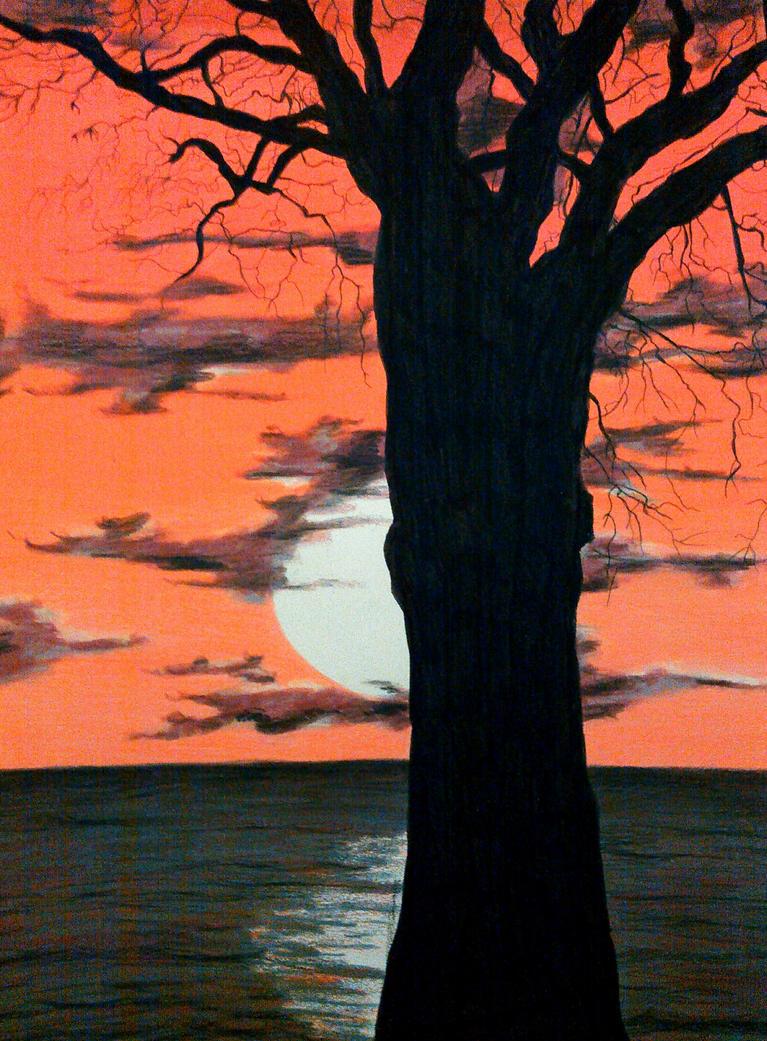 Blood Sunset by magnifulouschicken