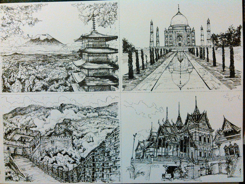 Four Countries- Asia by magnifulouschicken