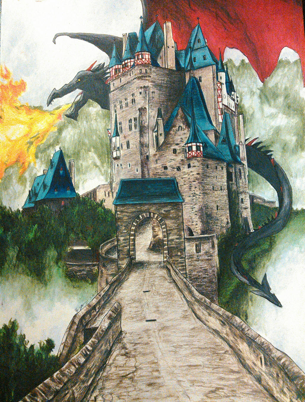 Eltz Dragon by magnifulouschicken