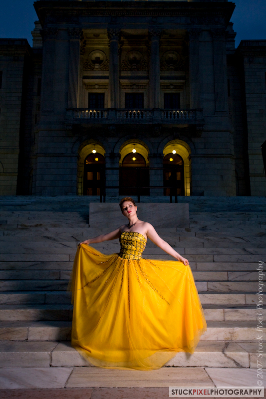 Yellow gown by Lovely-Laura-Jahnke