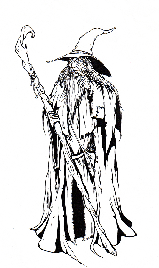 gandalf the gray coloring pages - photo#10