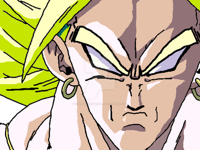 Broly .:lineart 32:. coloured by Evil-Black-Sparx-77