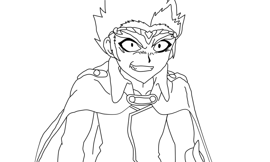 beyblade coloring pages gingka - photo#24