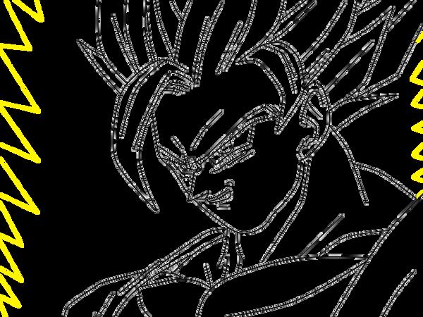 SSJ2 Goku With Aura .:lineart 59:. By Evil-Black-Sparx-77