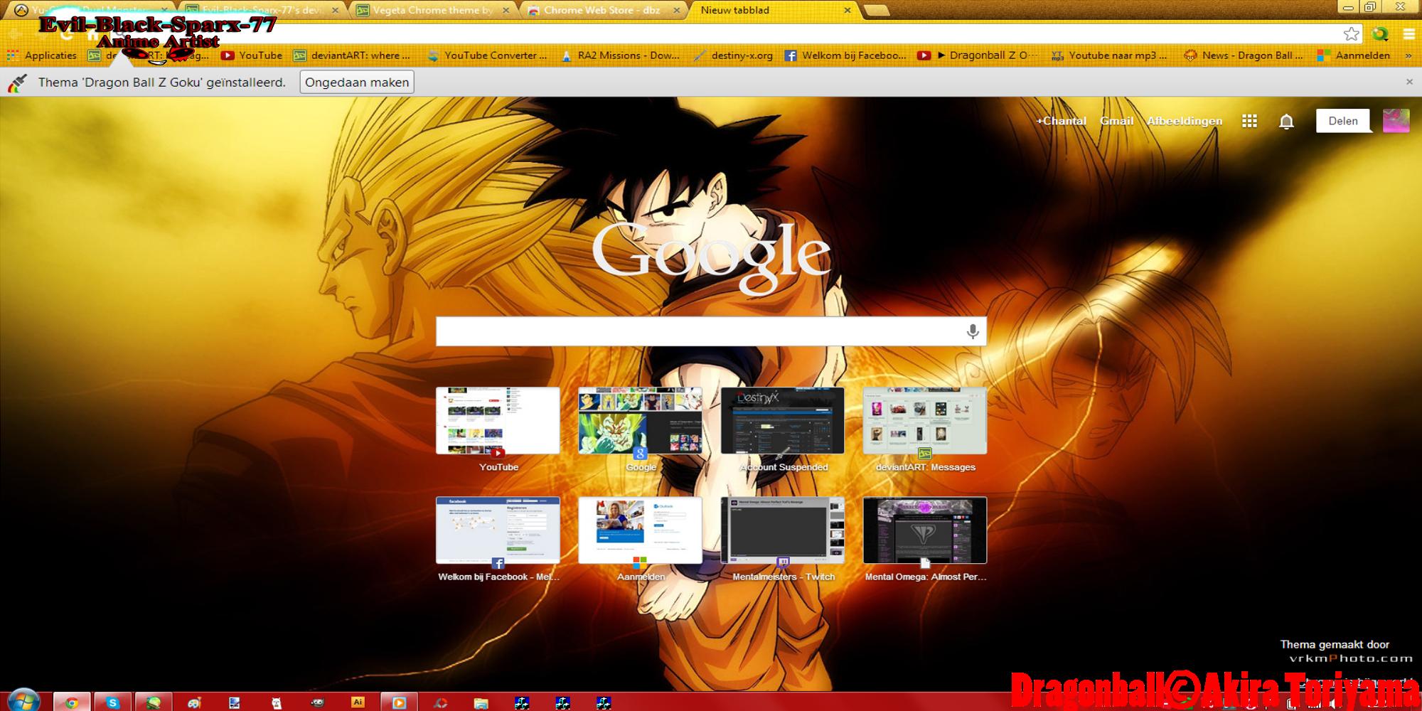Google chrome themes dragon ball z -  Chrome Theme