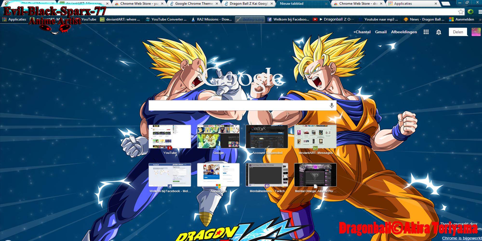 Google chrome themes dragon ball z -  Vs Vegeta Chrome Theme