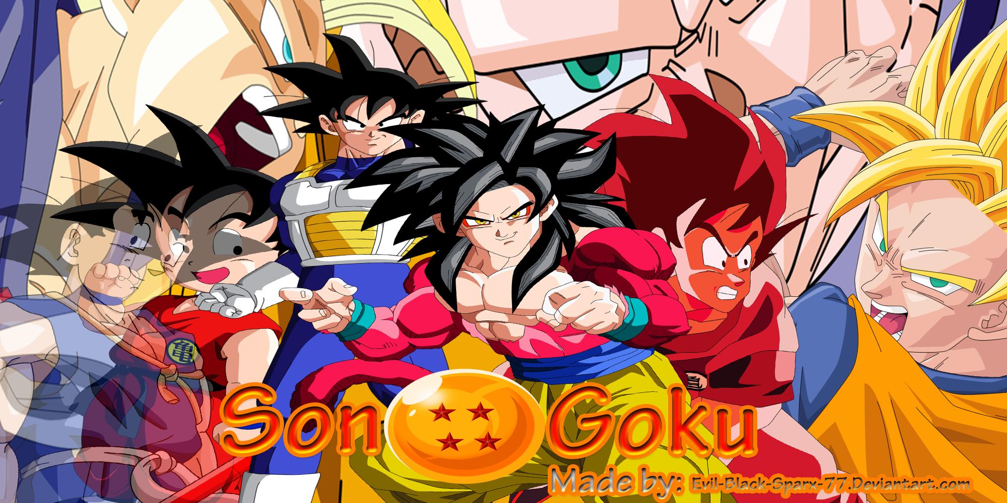 Google chrome themes dragon ball z - Son Goku Chrome Theme By Evil Black Sparx 77