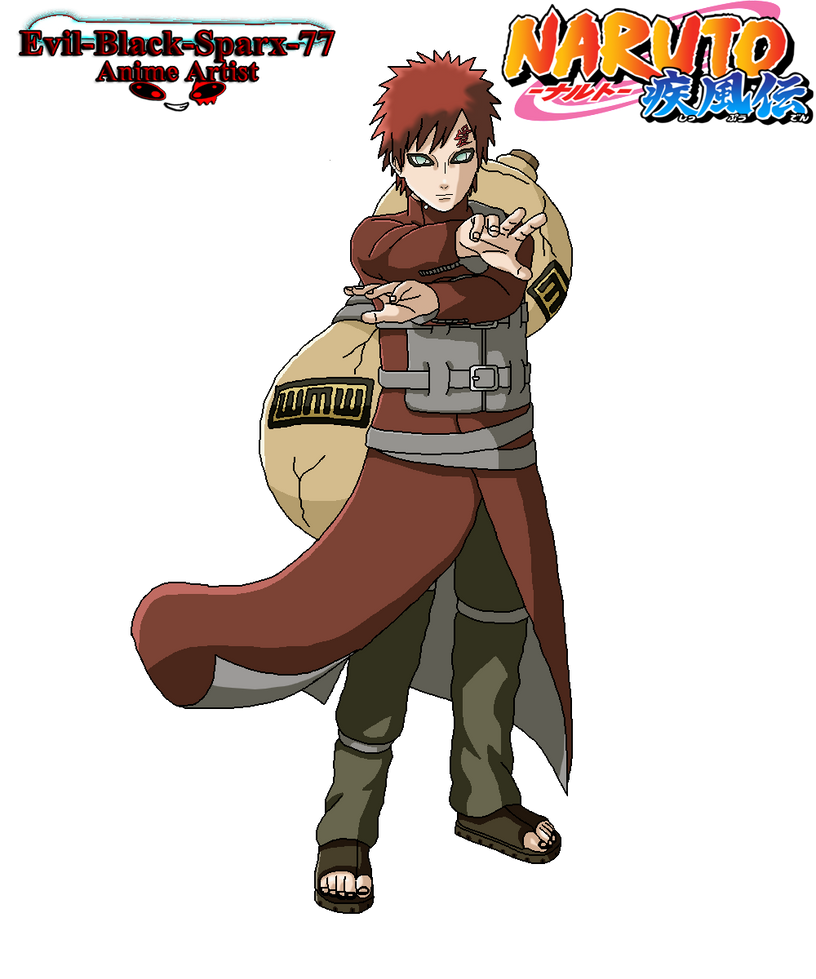 Gaara fullbody by Evil-Black-Sparx-77