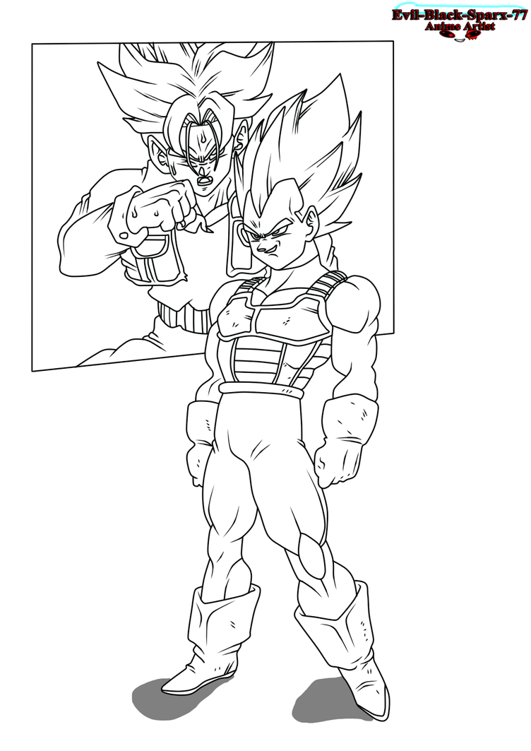 In The Hyperbolic Time Chamber .:Lineart 157:. by Evil-Black-Sparx-77
