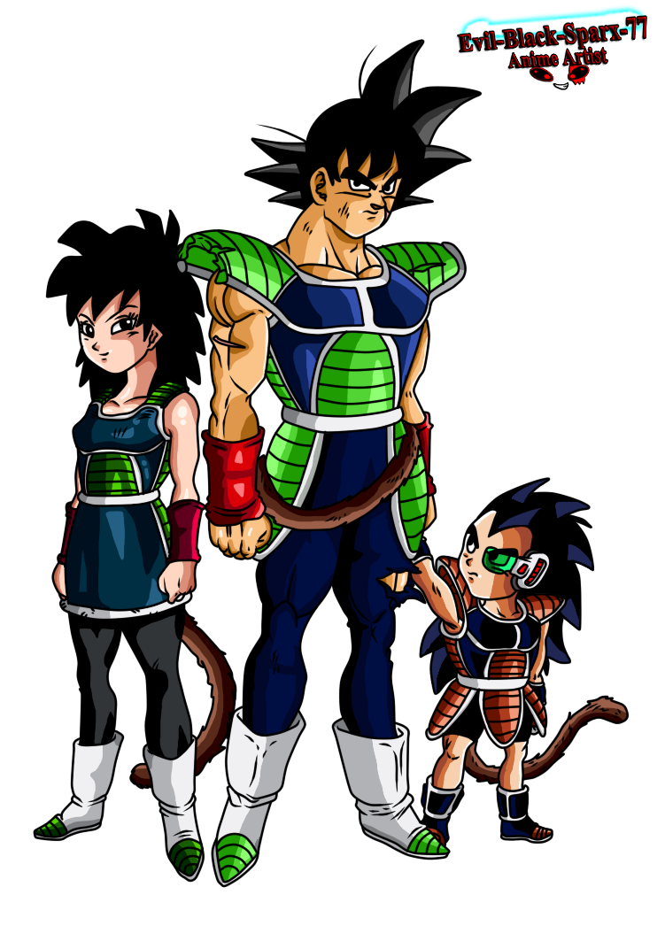 Gine,Bardock and Kid Raditz by Evil-Black-Sparx-77