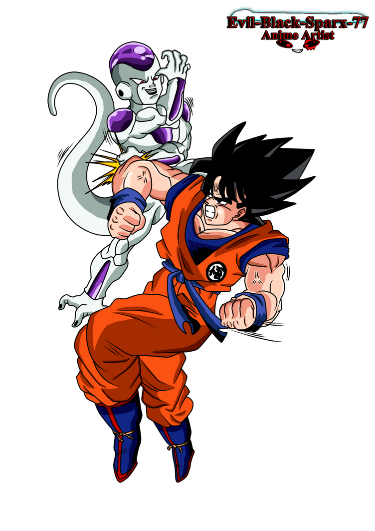 Goku Vs Frieza by Evil-Black-Sparx-77