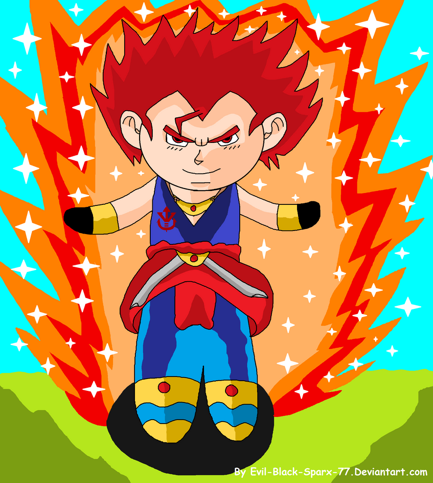 X-Mas RQ: Chibi Super Saiyan God Vegeto by Evil-Black-Sparx-77