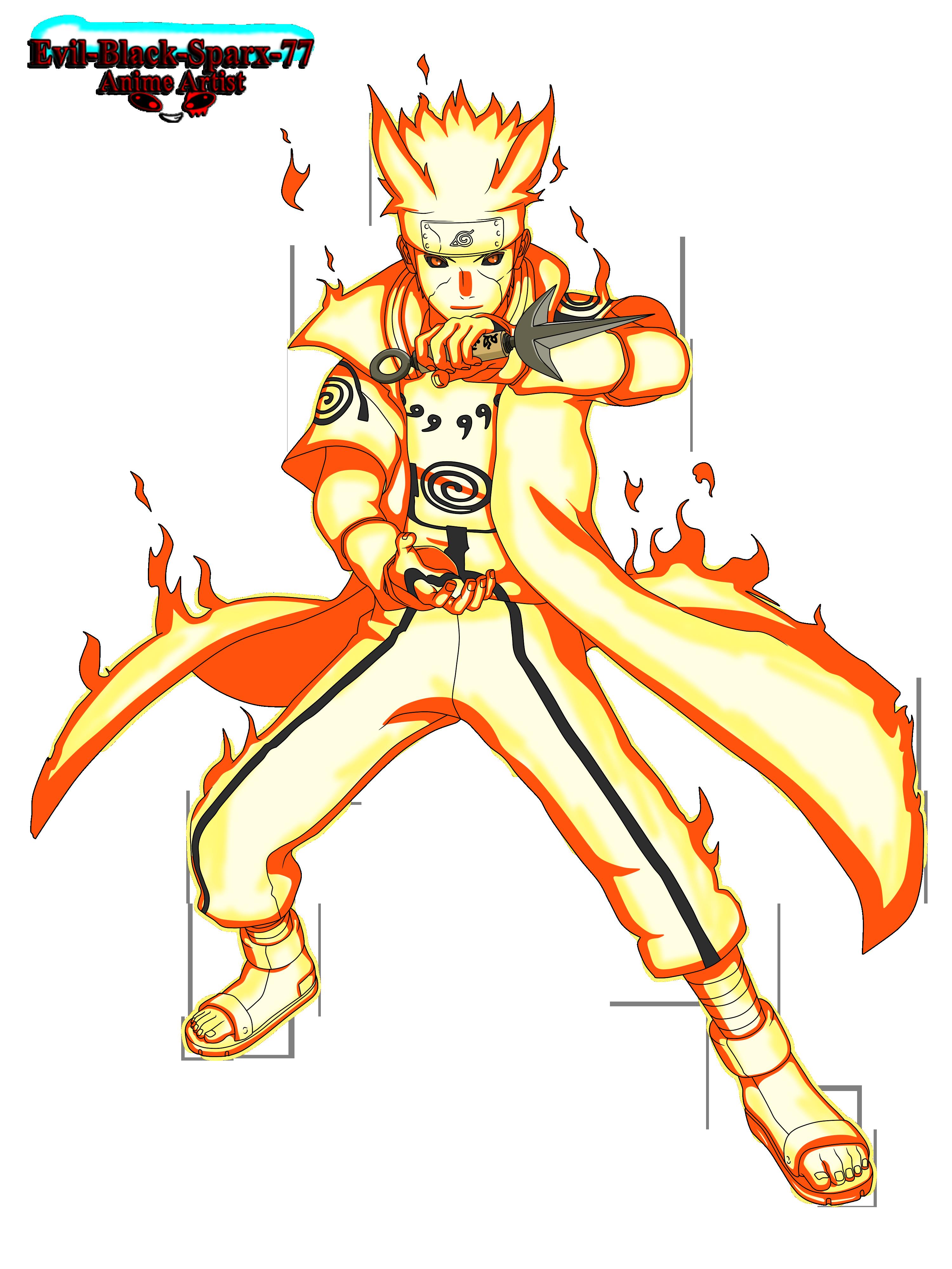 Minato's nine tails chakra mode by Evil-Black-Sparx-77 on ...