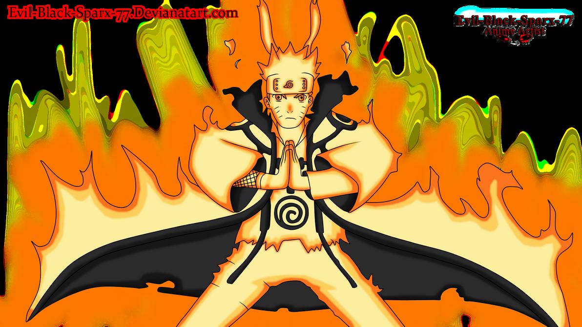 Naruto Going Kurama mode by Evil-Black-Sparx-77