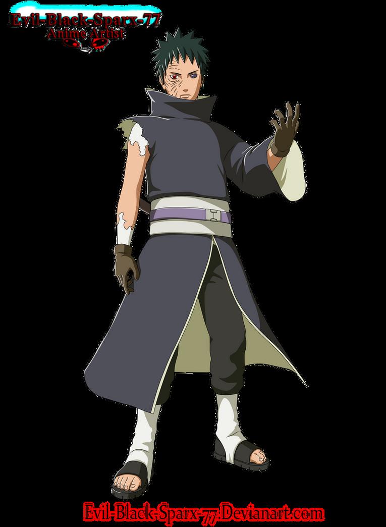 Obito Uchiha full body by Evil-Black-Sparx-77