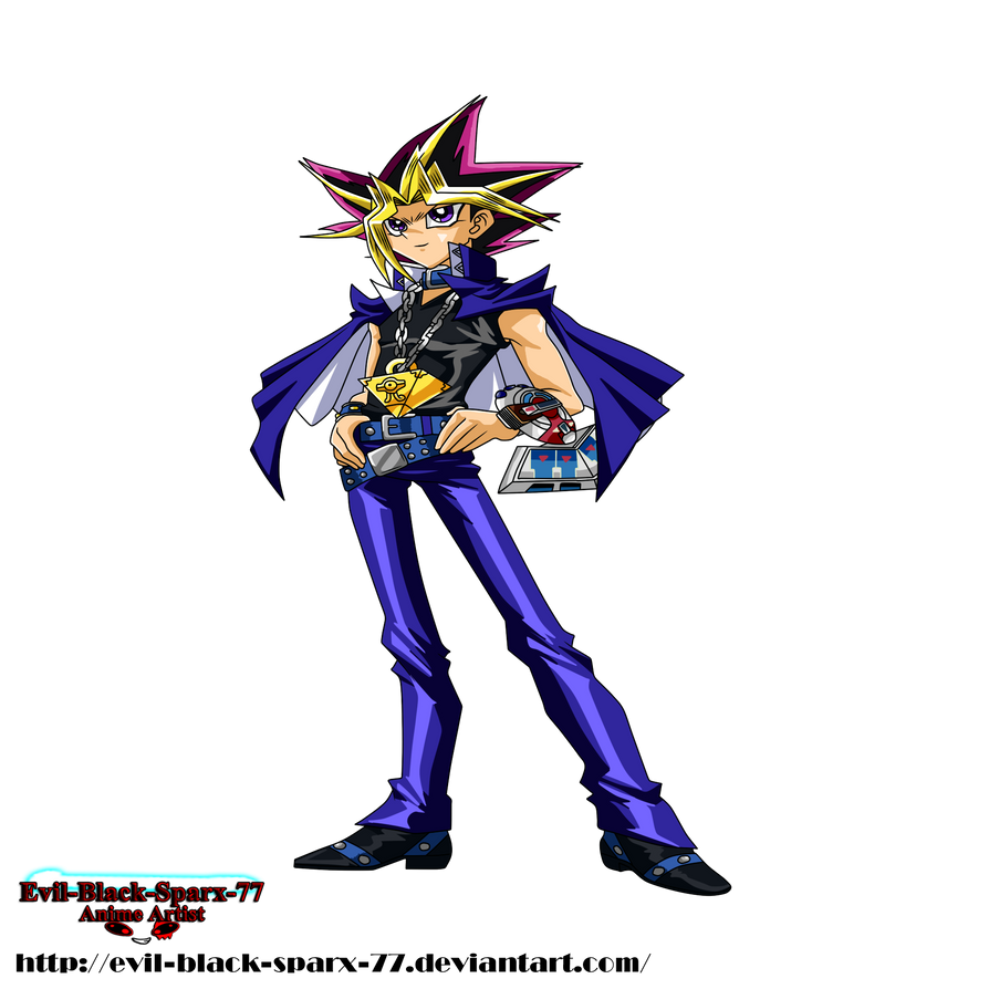 Yami Yugi Full Body by Evil-Black-Sparx-77
