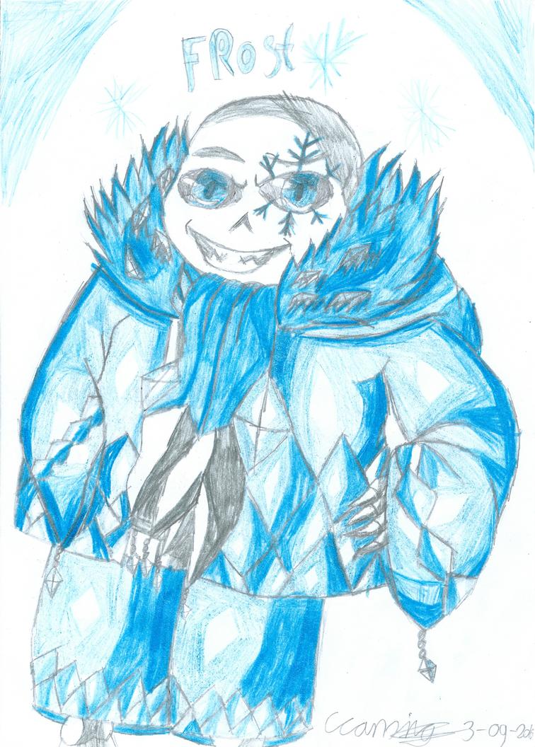 .:Gift:. Frost!Sans by Evil-Black-Sparx-77