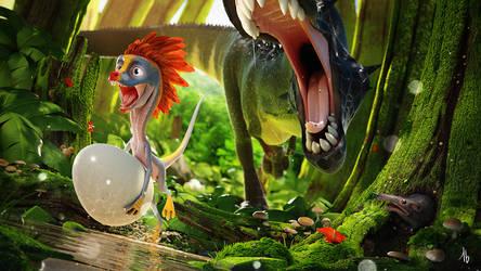 Oviraptor by tbkoen