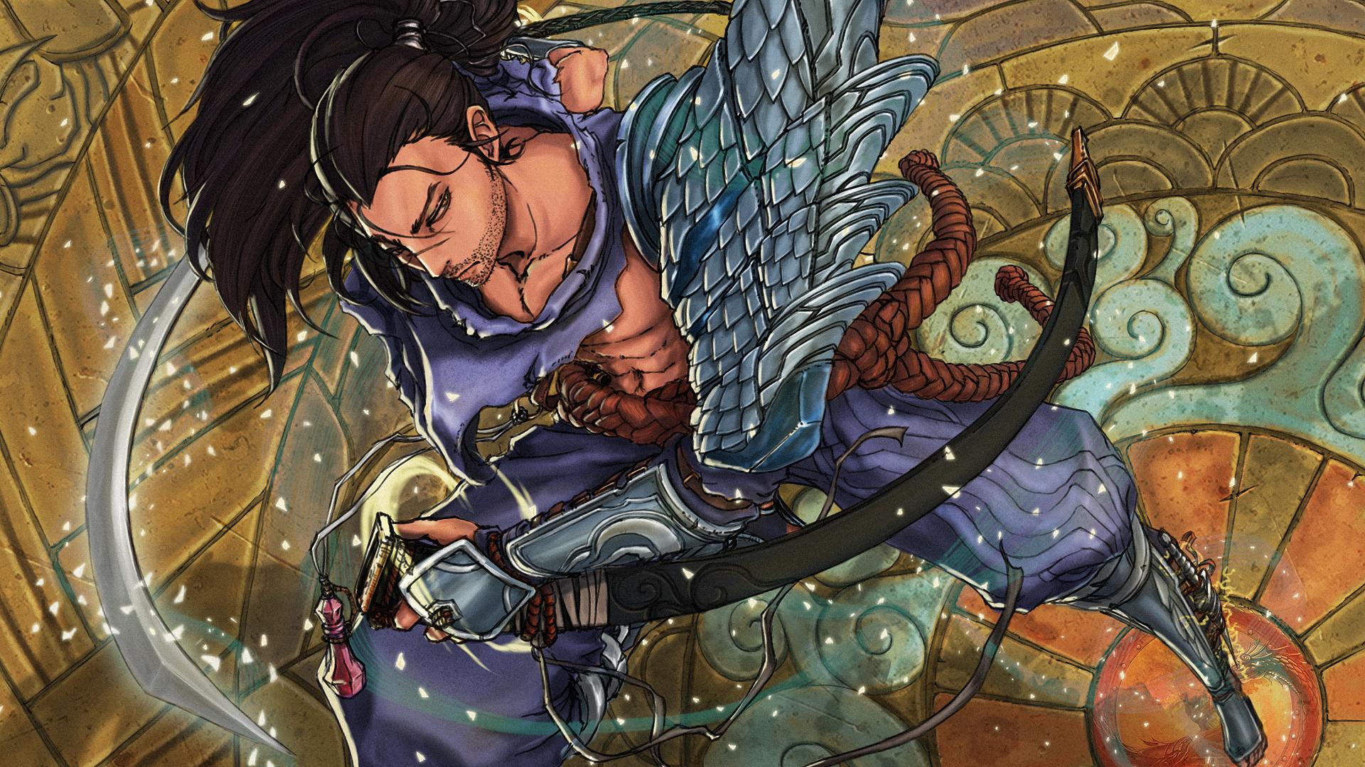 O homem da justiça, a luz do mundo impuro que corroi as veias podres do arthur. League_of_legends_yasuo_fanart_by_kumagzter-d6xns6f