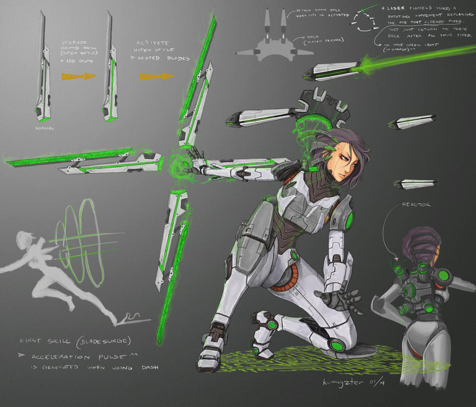 Neo Assault Irelia skin idea by kumagzter