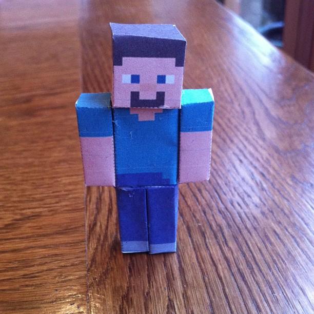 Minecraft Papercraft Steve Minecraft/papercraft: steve by