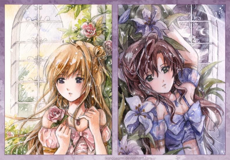 Roses and Lilies by kandasama