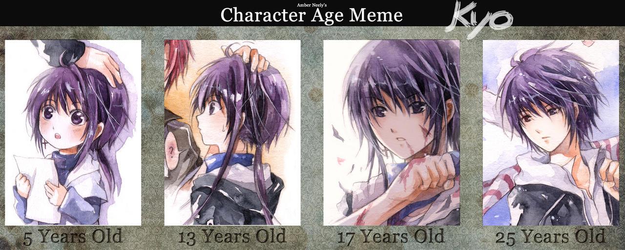 Character Age Meme: Kyo by kandasama