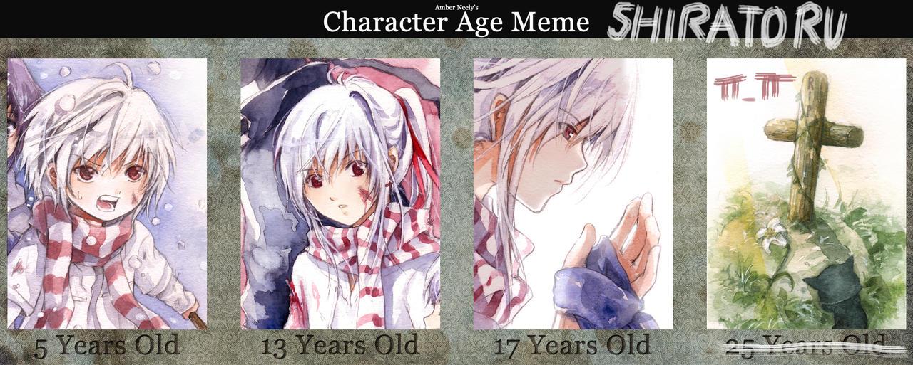 Character Age Meme: Shiratoru by kandasama