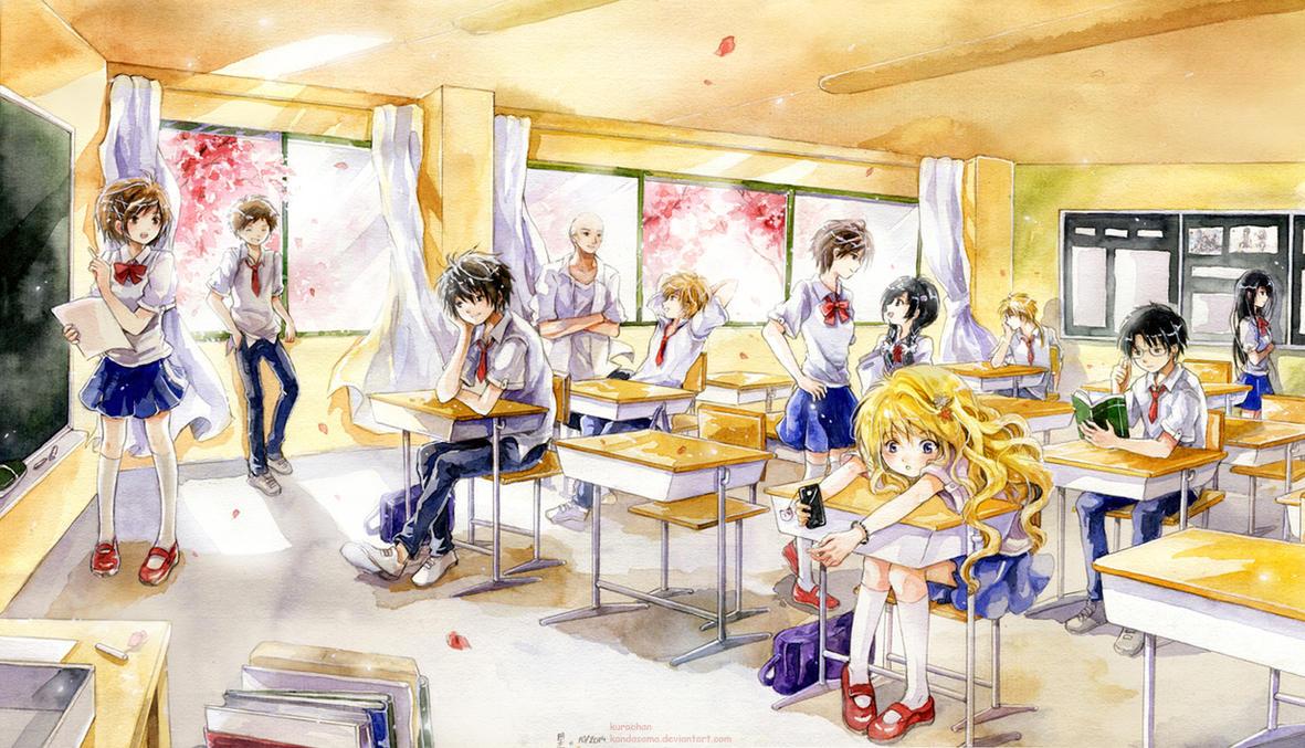 Classroom Breaktime by kandasama