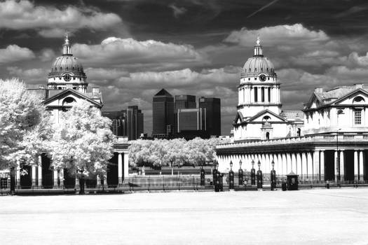 Greenwich University and Canary Wharf