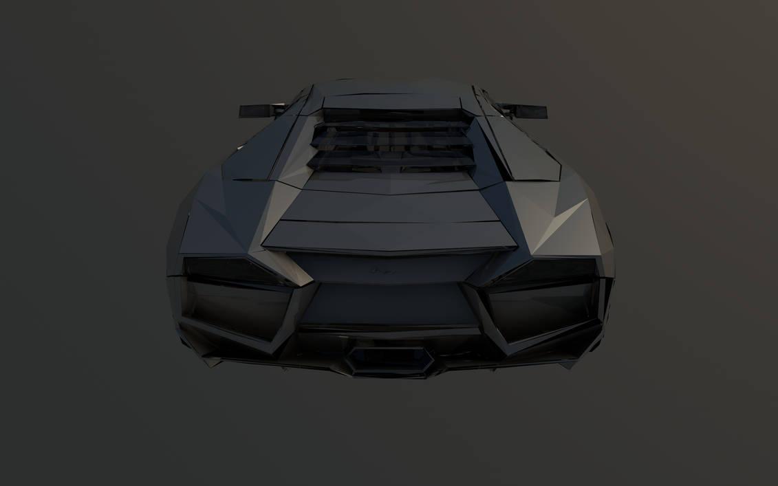Low Poly Lamborghini Reventon Back By Sinisterbagel On Deviantart