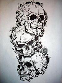 3 Skull Tattoo Design By Tsmooth23 On DeviantArt