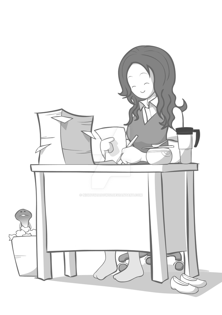 Anabi in an office by NightShadow02