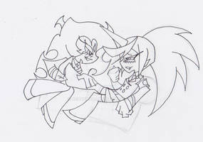 Sketch - Scanty and KneeSocks' Playtime