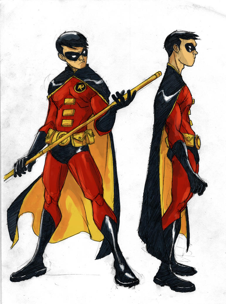 Young Justice Robin Tim Drake And Wonder Girl Robin Designs by green...