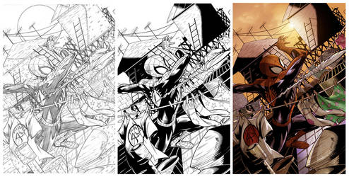 SPIDEY covers... by greenestreet